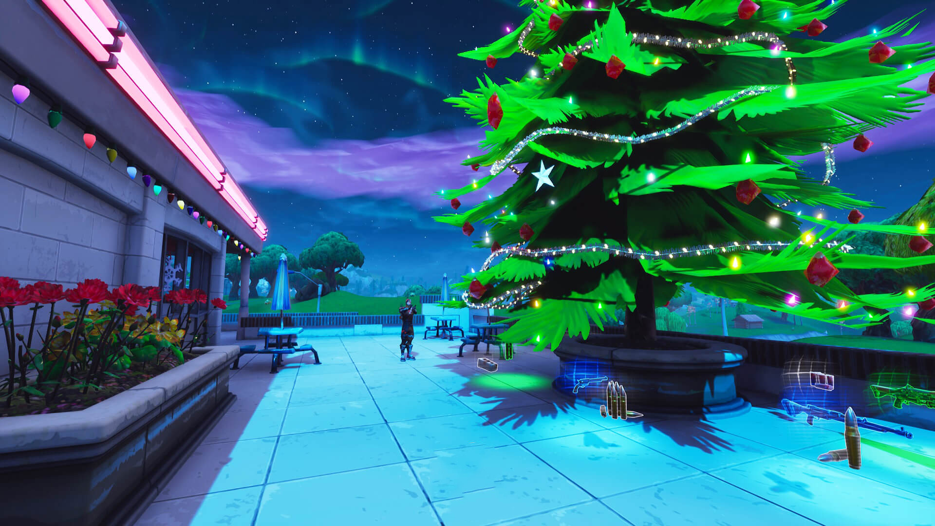 Christmas Tree Springing Up | Fortnite - zilliongamer
