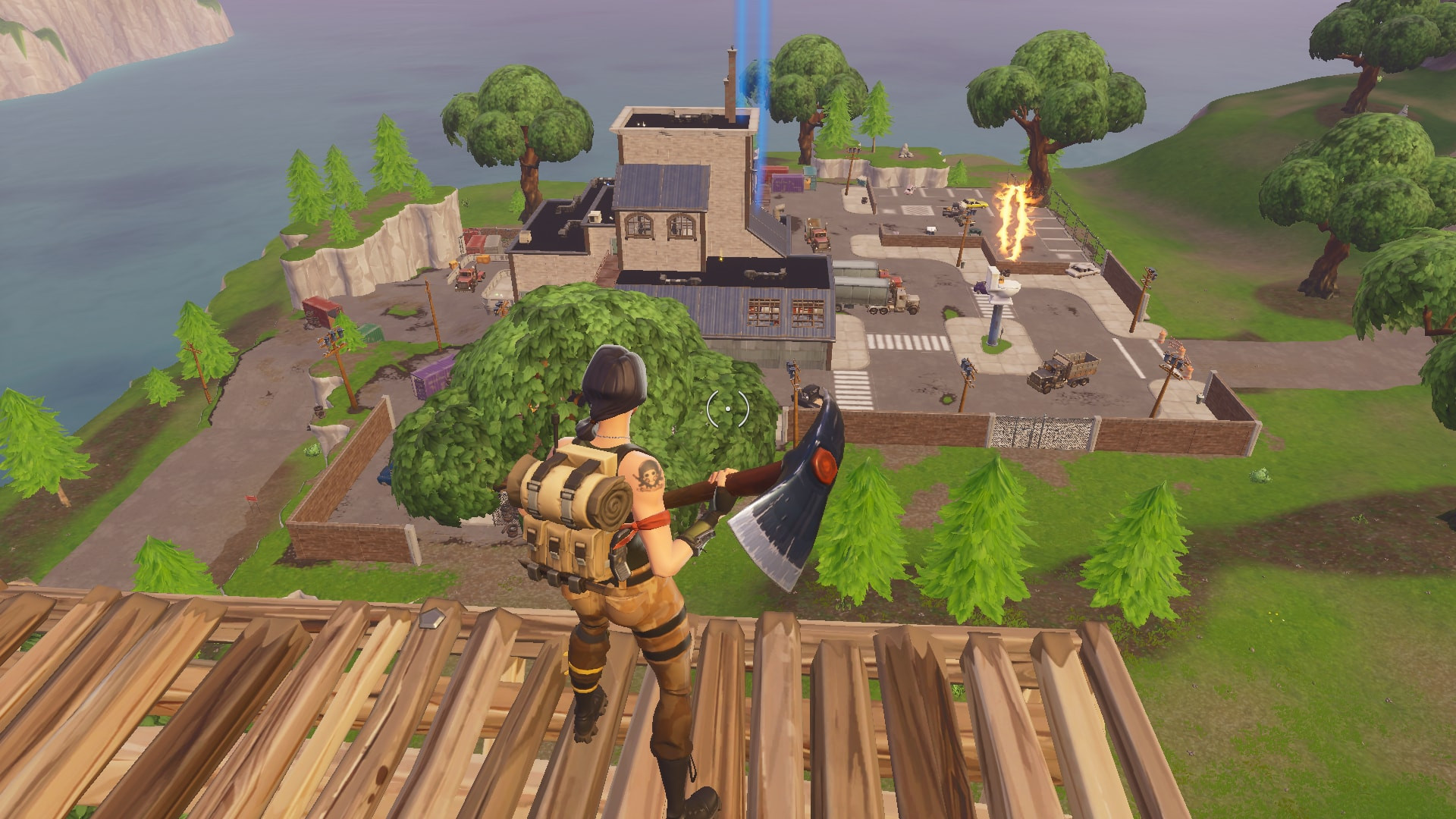 Top view of Flush Factory | Fortnite - zilliongamer your game guide
