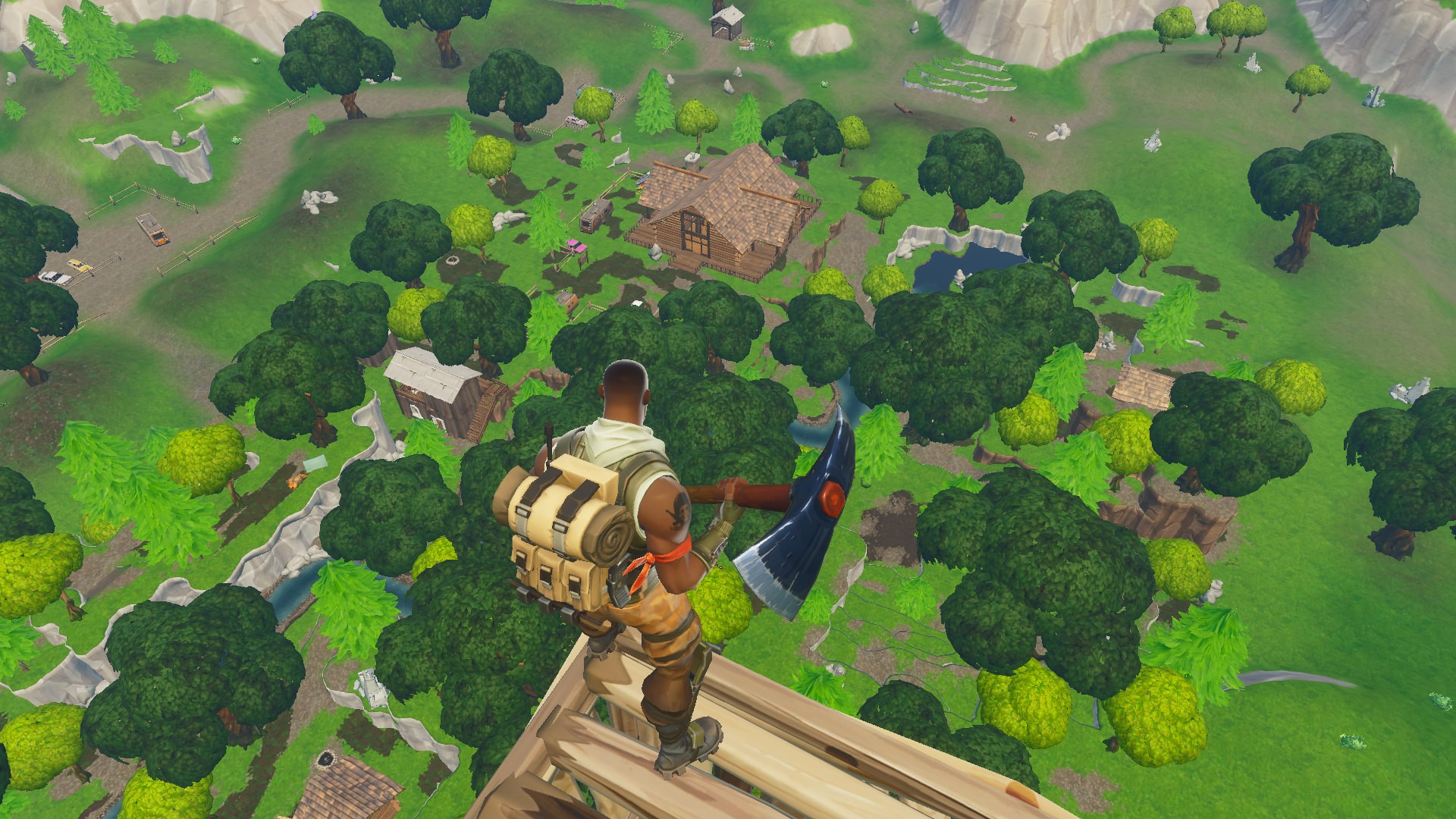 Top view of Lonely Lodge | Fortnite - zilliongamer your game guide