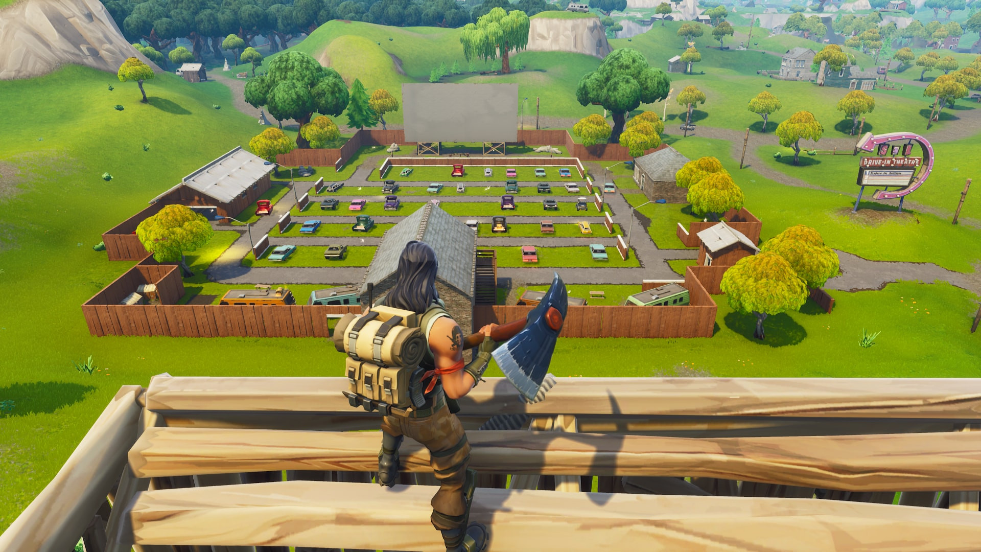 Risky Reels from top view | Fortnite - zilliongamer your game guide