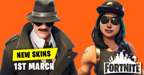 New Skins in Item Shop 1st March