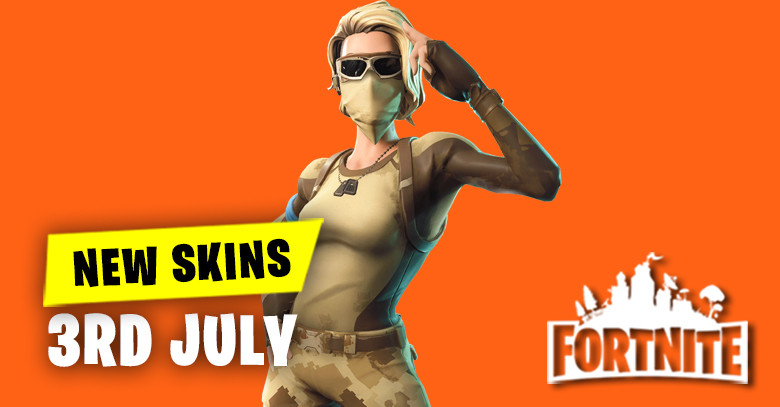 New Skins in Item Shop 3rd July