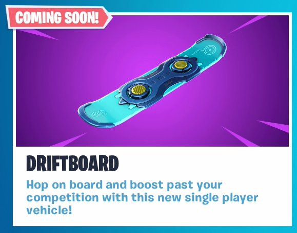 Driftboard New Vehicle - Fortnite - zilliongamer