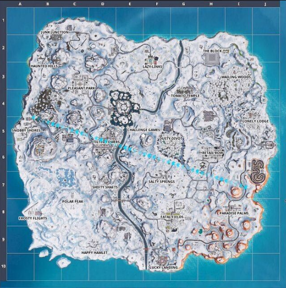 Fortnite Map Covered By Snow | Fortnite - zilliongamer
