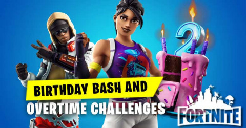 Birthday Bash&Over Time Challenge