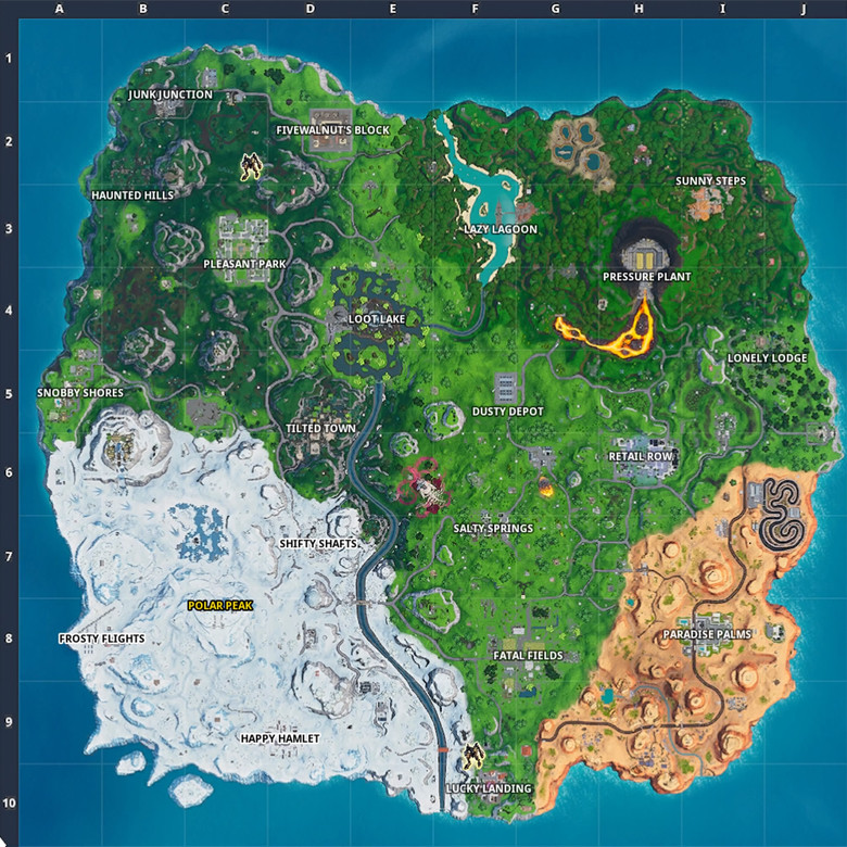Fortnite Maps and Locations - zilliongamer