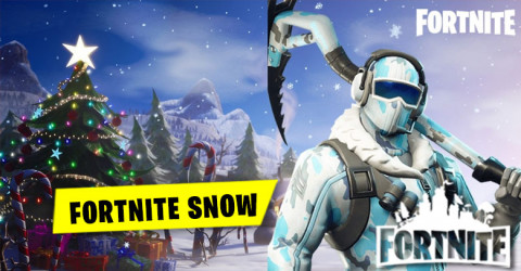 Snow has began to fall on Fortnite Spawn islands