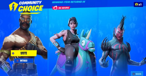 Fortnite Item Shop Voting