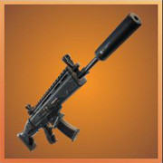 Legendary Suppressed Scar Assault Rifle | Fortnite - zilliongamer