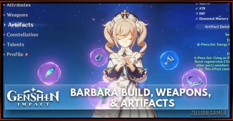Barbara Build, Weapons, & Artifacts