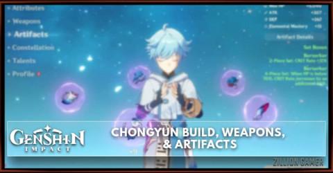Chongyun Build, Weapons, & Artifacts