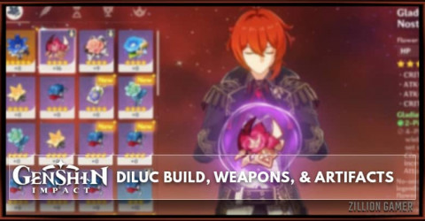 Diluc Build, Weapons, & Artifacts