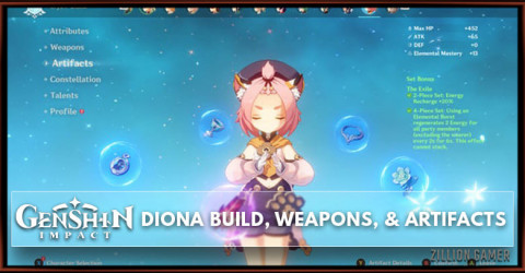 Diona Build, Weapons, & Artifacts