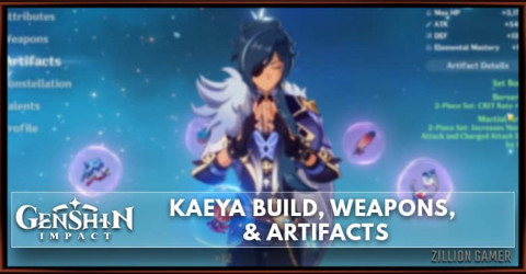 Kaeya Build, Weapons, & Artifacts