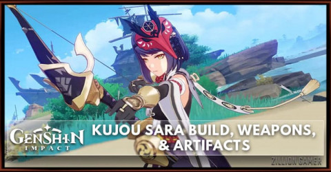 Genshin Impact Kujou Sara Build, Weapons, & Artifacts