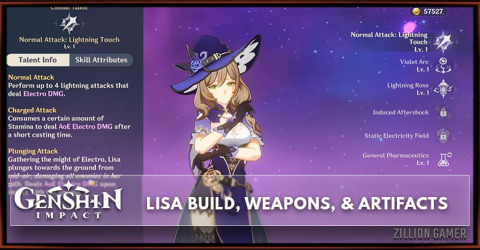 Lisa Build, Weapons, & Artifacts