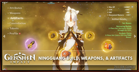 Ningguang Build, Weapons, & Artifacts