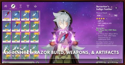 Razor Build, Weapons, & Artifacts