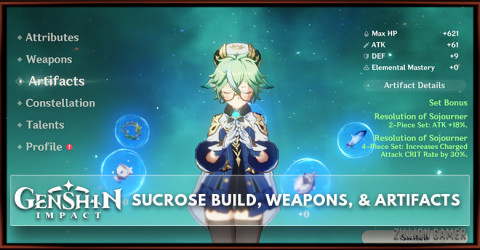 Sucrose Build, Weapons, & Artifacts
