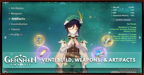 Venti Build, Weapons, & Artifacts