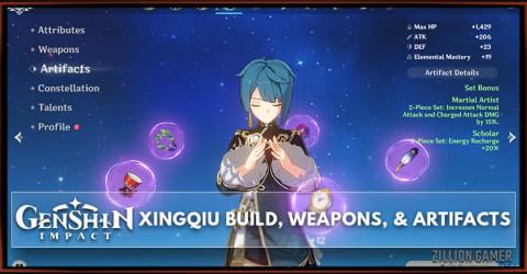 Xingqiu Build, Weapons, & Artifacts