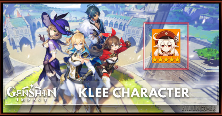 Klee Tier Talents Ascension Genshin Impact Zilliongamer