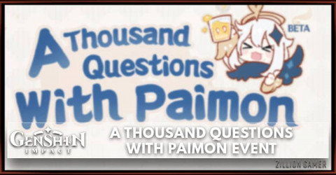 Genshin Impact A Thousand Questions With Paimon Event