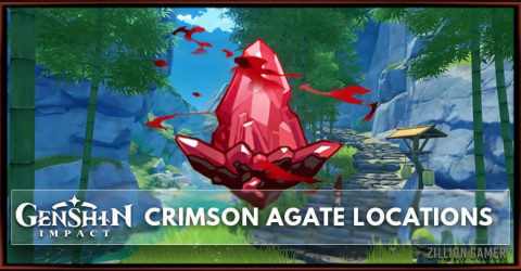 Genshin Impact Crimson Agate Locations Map Guide