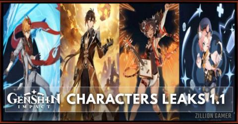 Genshin Impact Characters Leaks 1.1