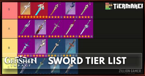 Best Sword in Genshin Impact Tier List