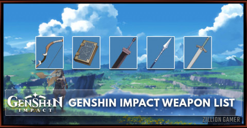 Genshin Impact Weapon List, Rarity, and Leveling Up