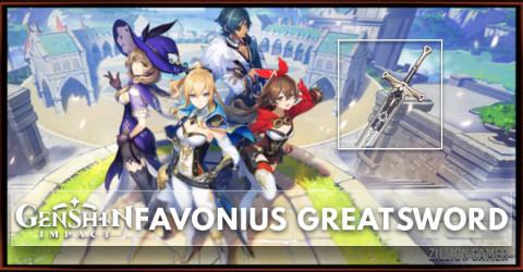 Favonius Greatsword Stats, Passive Ranks, & Ascension