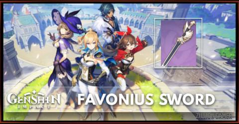 Favonius Sword Stats, Passive Ranks, & Ascension