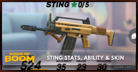 Sting Stats, Ability, & Skin
