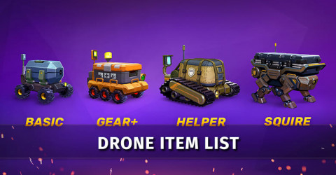 Gods of Boom Drone Item List