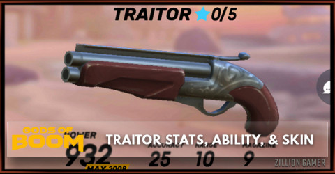 Traitor Stats, Ability, & Skin