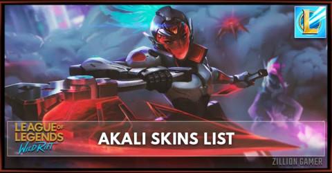 Akali Skins List in Wild Rift