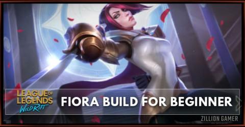 Fiora Wild Rift Build Guide for Beginner