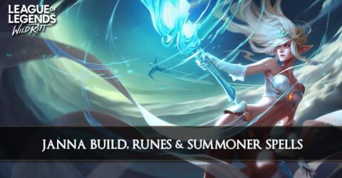 Janna Build, Runes, & Summoner Spells