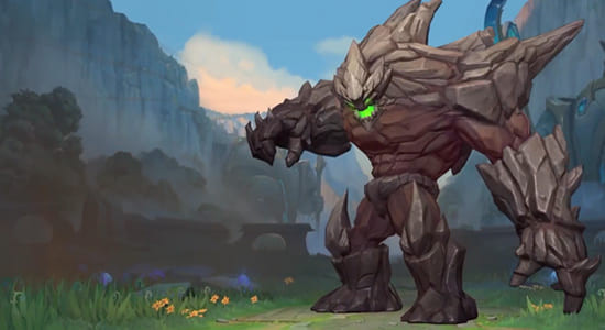 League of Legends Wild Rift Malphite Default skin - zilliongamer
