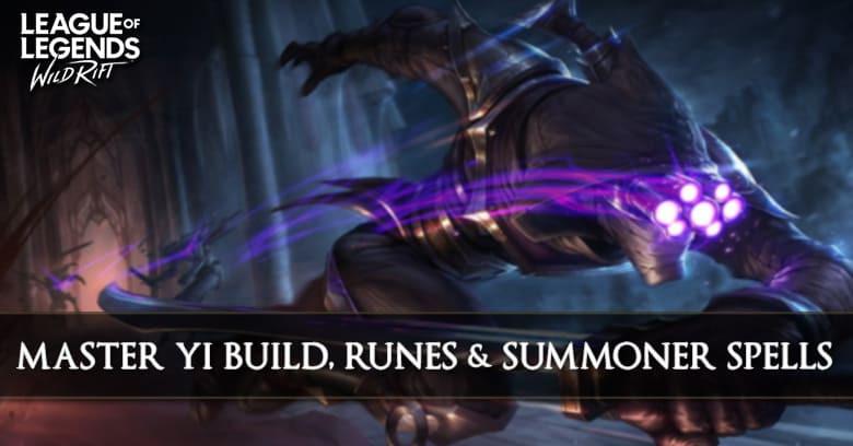 Master Yi Build League Of Legends Wild Rift Zilliongamer