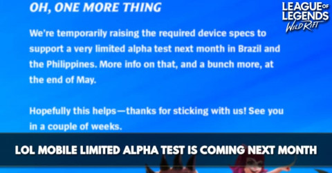LoL Mobile Limited Alpha Test Is Coming Next Month