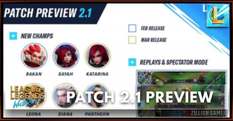 Wild Rift Patch 2.1 Preview & New Champion Leaks