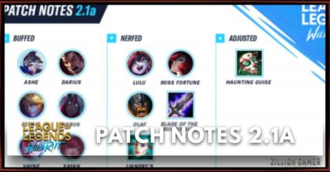 League of Legends Wild Rift Patch Notes 2.1a