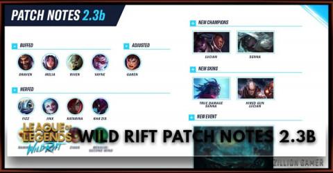 League of Legends Wild Rift Patch Notes 2.3b