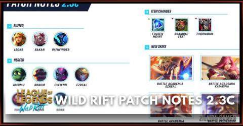 League of Legends Wild Rift Patch Notes 2.3c