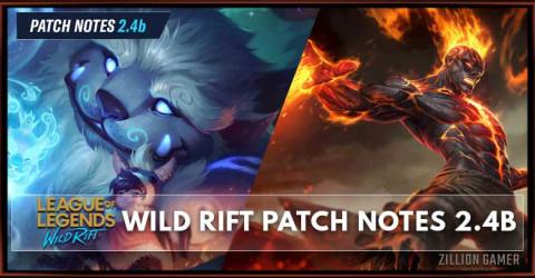 League of Legends Wild Rift Patch Notes 2.4b
