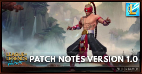 League of Legends Wild Rift Patch Notes 1.0