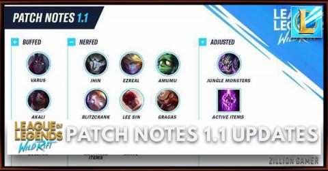 Patch Notes 1.1 Updates (Nerf & Buff) | Wild Rift