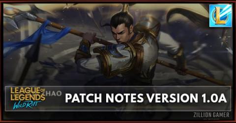 League of Legends Wild Rift Patch Note 1.0a